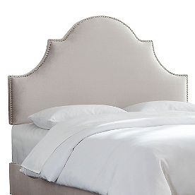 Nail Button High Arch Headboard