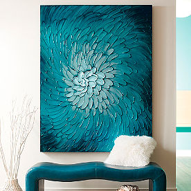 Blue Flora Wall Art