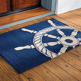 Ships Wheel Outdoor Door Mat