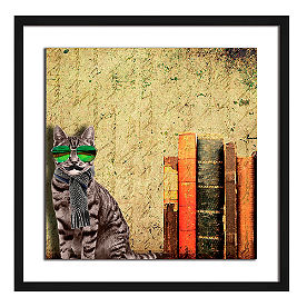 Hipster Cat Wall Art