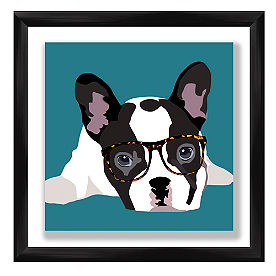 Hipster Puppy Wall Art