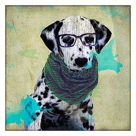 Hipster Dalmatian Wall Art