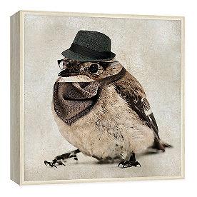 Hipster Bird Wall Art