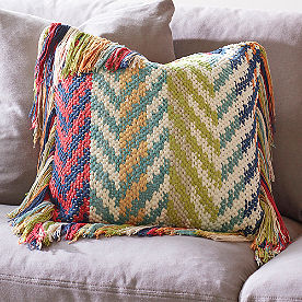 Fringed Chindi Throw Pillow