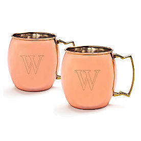 Personalized Moscow Mule Mugs, Set of Two
