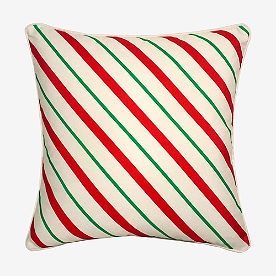 Candy Cane Stripe & Dots Pillow