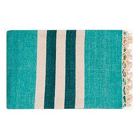 Troy Striped Cotton Throw