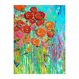 Bright Blooms Outdoor Wall Art