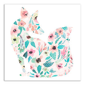 Spring Floral Canvas, Fox