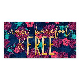 Run Barefoot & Free Canvas