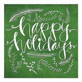 Happy Holidays Canvas