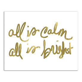 All is Calm, All is Bright Canvas Wall Art