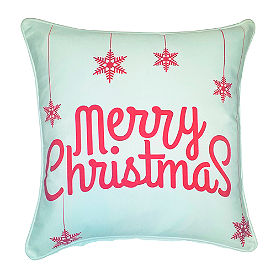 Merry Christmas Ornaments Pillow
