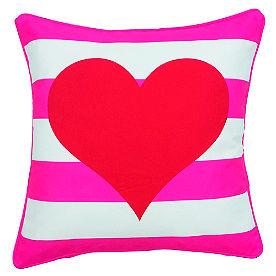 Heart Stripe Pillow