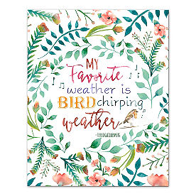 Bird Chirping Weather Canvas