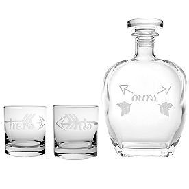 His, Hers and Ours Decanter 3-pc. Set