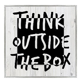 Think Outside the Box Wall Art