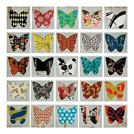 Wing Pattern Wall Art, Set of 25