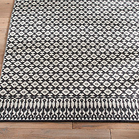 Magnolia Home Emmie Kay Rug in Ivory and Black