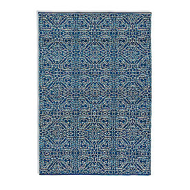 Magnolia Home Emmie Kay Rug in Navy and Cream