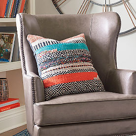 Boho Stripe Square Pillow