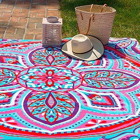 Medici Beach Towel for Two