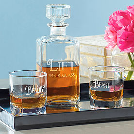 Lift Your Glass Three-Piece Decanter Set