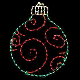 Pre-lit LED Swirl Ornament