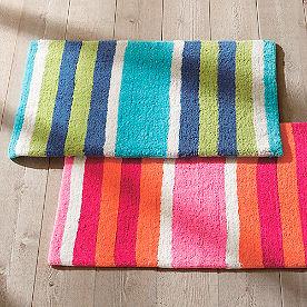 Multi Stripe Bath Rug