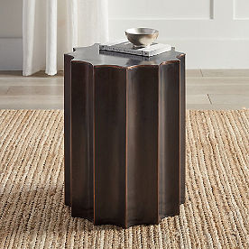 Scallop Copper Side Table