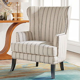 Jordan Fabric Wing Chair
