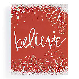 Believe Christmas Canvas
