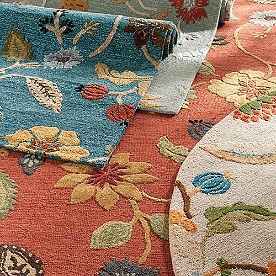 Floral Leaf Indoor Rug