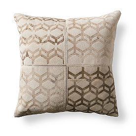 Cube Natural Hide Throw Pillow