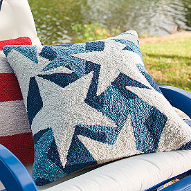Blue Stars Throw Pillow