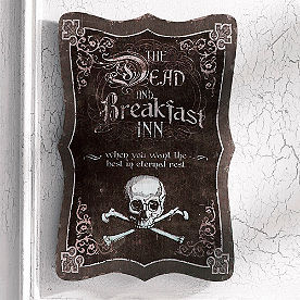 Dead and Breakfast Halloween Wall Art