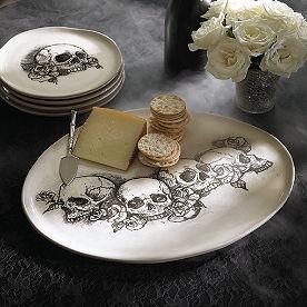 Sketched Skull Platter