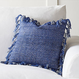 Solid Fringed Throw Pillow