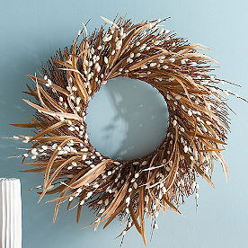 Faux Pussywillow Wreath