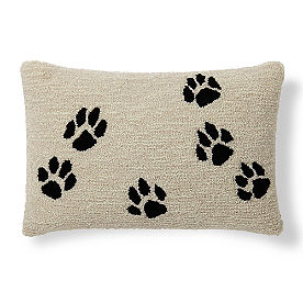 Paw Prints Lumbar Pillow