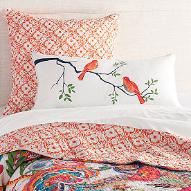 Cleo Birds Lumbar Pillow