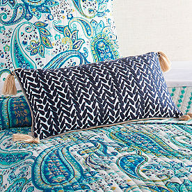 Stella Crewel Stitch Lumbar Pillow