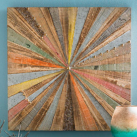 Starburst Wood & Metal Art