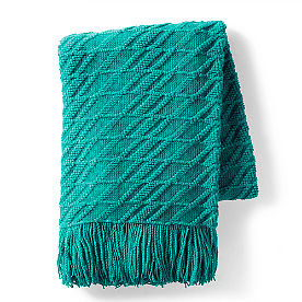 Textured Stripe Knit Throw