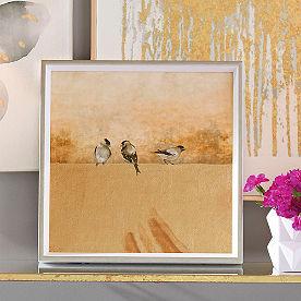 Gold Birds Wall Art I