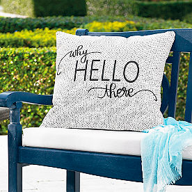 Why Hello There Outdoor Pillow