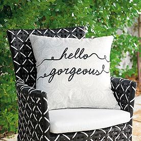 Hello Gorgeous Outdoor Pillow