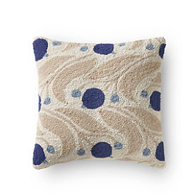 Fleur Hook Blueberry Pillow
