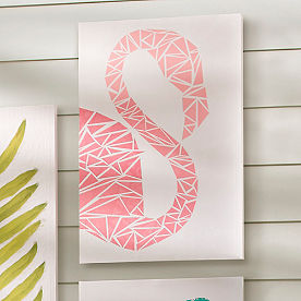 Flamingo Outdoor Canvas Art