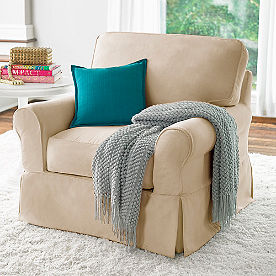 Clara Slipcovered Swivel Glider